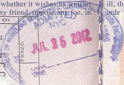 Passport stamp