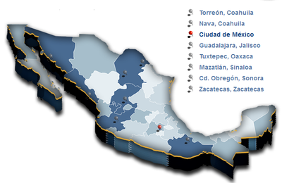 Grupo Modelo map