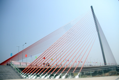 Sail shaped bridge vietnam