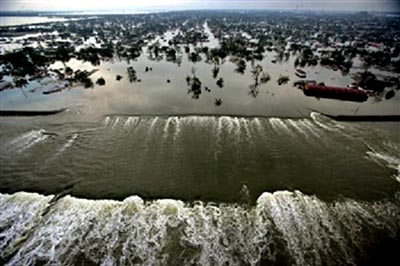 Katrina levees breached