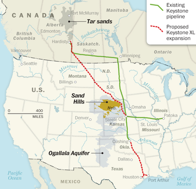 Keystone XL maps