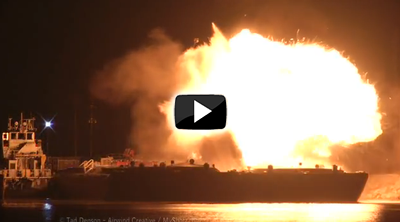 Mobile explosion video