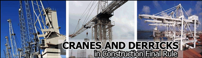 cranes and derricks OSHA rule
