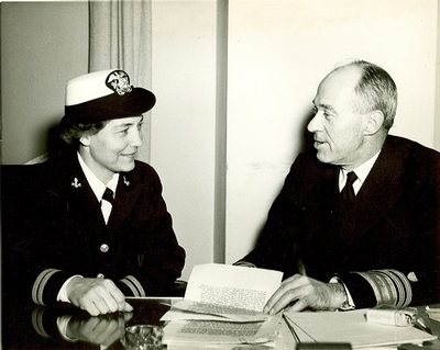 Lt. Dorothy Stratton and Adm. Waesche