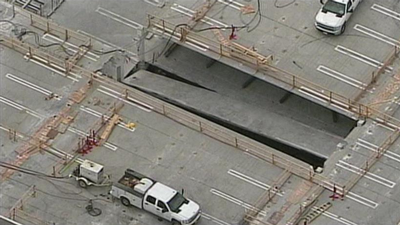 Mall deck collapse