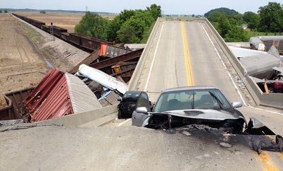 Hwy M Collapse - Chaffee, MO
