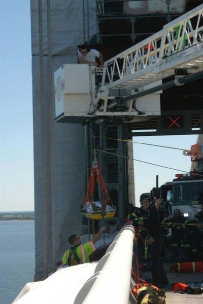 Chesapeake Bridge rescue