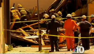 Rescuers at site