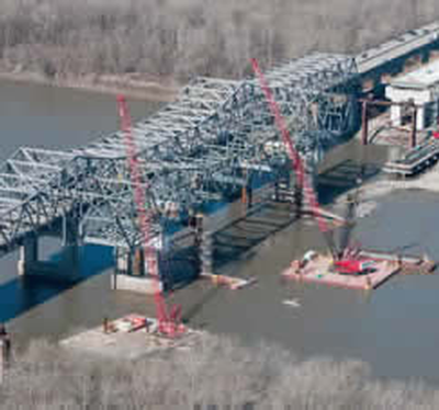 Blanchette Bridge construction
