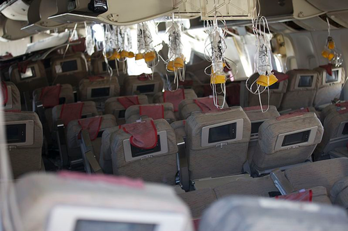 Interior of Asiana flight