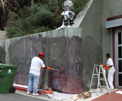 removing Chris Brown mural