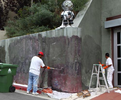 removing Chris Brown mural