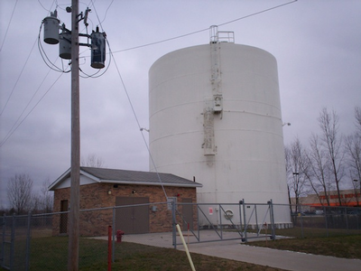 Brye Road water storage tank