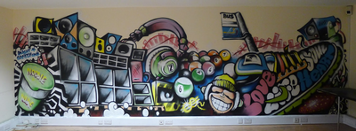 Cambridge Youth Foyer art
