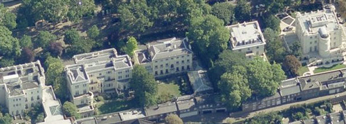 Mansions in Kensington, London