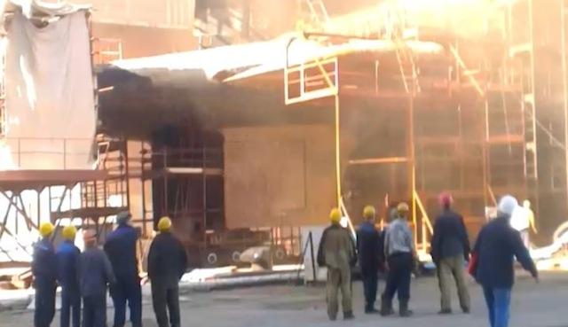Zvezda shipyard fire