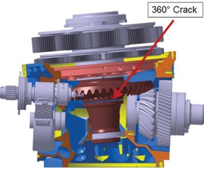 EC 225 gearbox crack