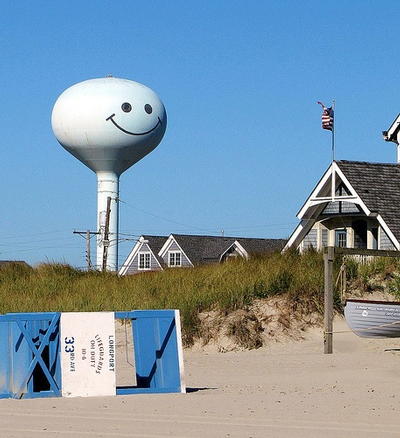Longport smiley water tower