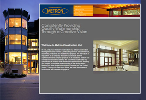 Metron Construction website