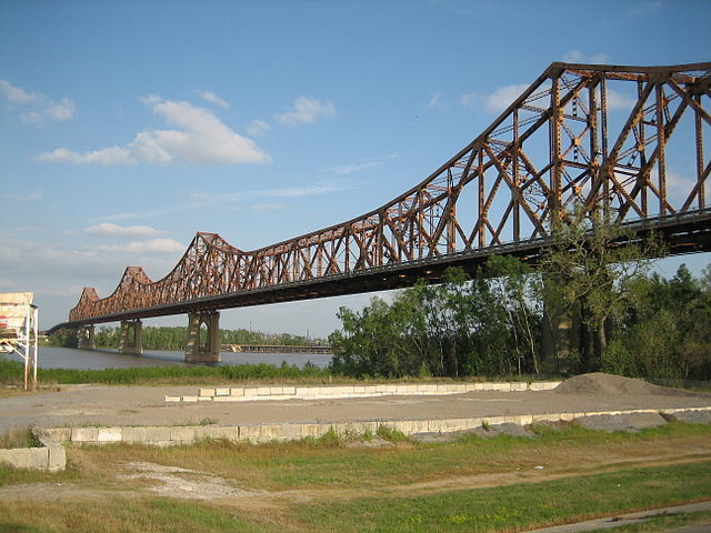 Huey P. Long Bridge painting work