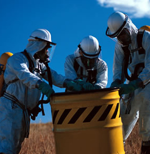 Hazardous waste workers