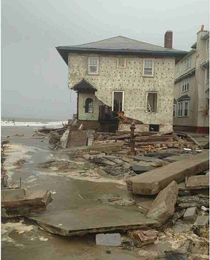 House wrecked by Sandy