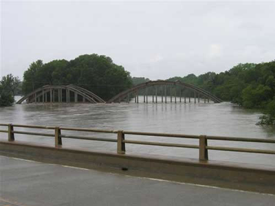 KS flooding - Hwy 96 bridge 2007