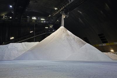 Salt silo