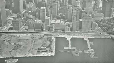 Battery Park City before