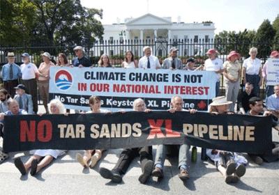 Anti-pipeline protest
