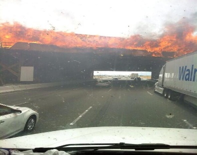 Interstate 15 San Bernardino fire
