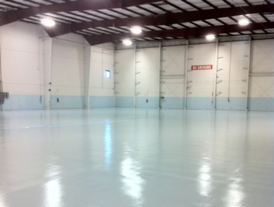 Antimicrobial industrial floors