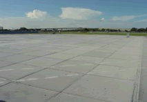 crushable concrete runway