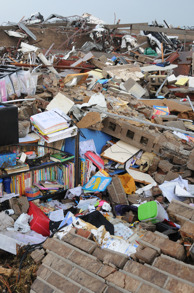 School damaged by Tornado