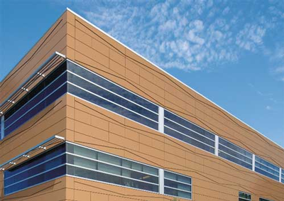 Formawall Graphix Series Insulated Metal Panels with Directional Reveals