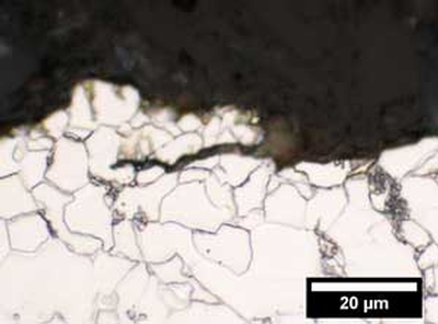 Micrograph of crack