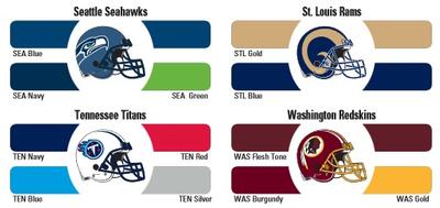 NFL paint colors
