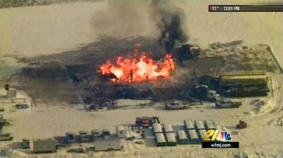 Chevron Lanco fire