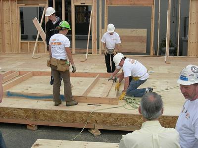 Habitat homebuilding