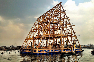 Makoko, Lagos; Kunle Adeyemi; Rebel Architecture; school
