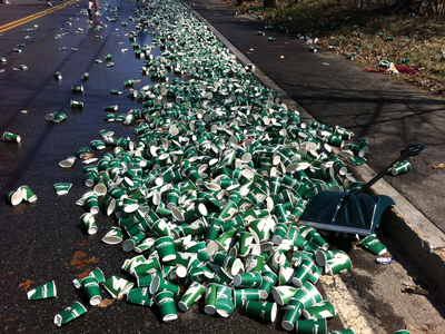 Boston Marathon trash