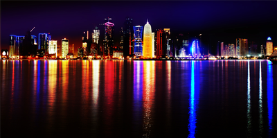 Doha Qatar at night