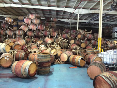 Napa Barrel Care Napa Earthquake