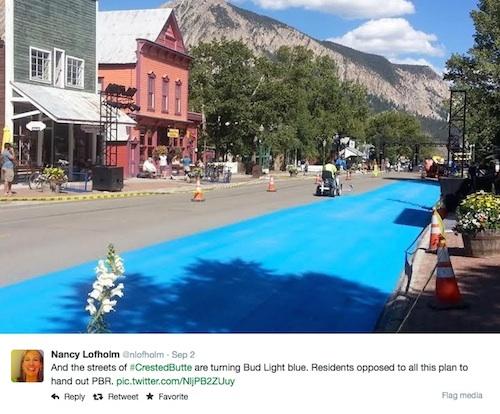 Crested Butte blue paint