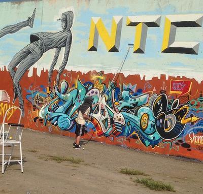 Paint Louis graffiti mural