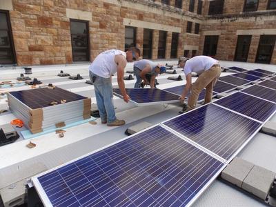 University of Kansas The Forum solar panels