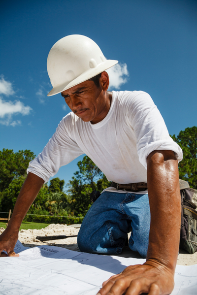 Latino construction worker