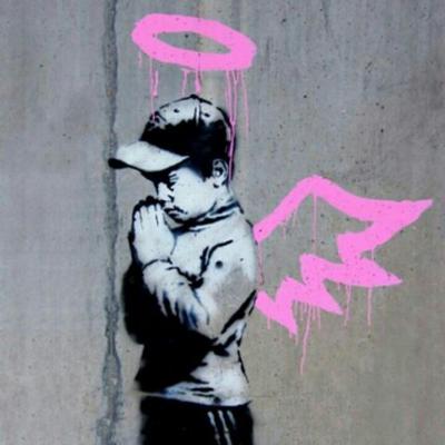 Banksy Angel Boy Park City