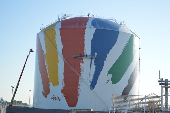 Rainbow Swash LNG Tank
