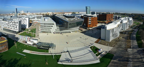 Panorama of campus